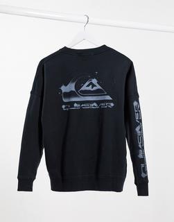 QUIKSILVER - Schwarzes Sweatshirt mit Box-Logo
