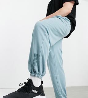 puma - Plus – Oversize-Jogginghose in verwaschenem Blau, exklusiv bei ASOS