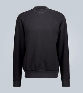 Les Tien - Baumwoll-Sweatshirt mit Stehkragen