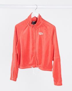 Nike - Kurze Retro-Trainingsjacke aus Frottee in Rot