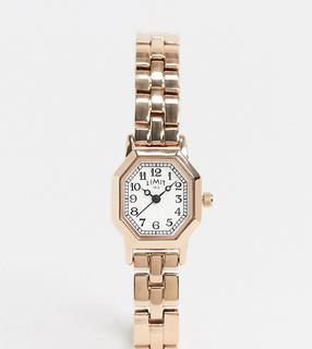 Limit - Octagonal – Armbanduhr in Roségold, exklusiv bei ASOS