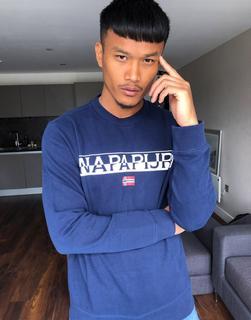 Napapijri - Baras – Blaues Sweatshirt