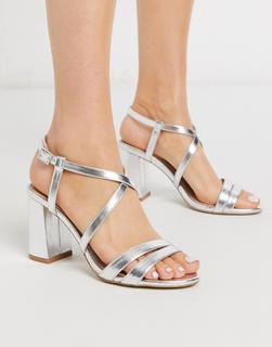 Carvela - Lash – Sandalen mit Blockabsatz, in Silber