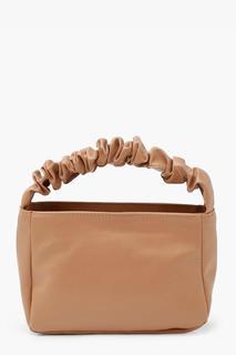 boohoo - Womens Ruched Handle Grab Bag - Beige - One Size, Beige