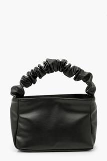 boohoo - Womens Ruched Handle Grab Bag - Black - One Size, Black