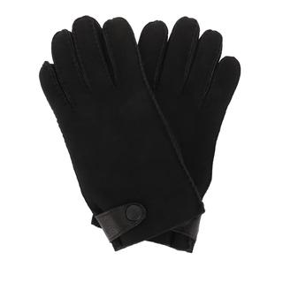 UGG - Handschuhe - Men Sheepskin Side Tab Gloves Black - in schwarz - für Damen