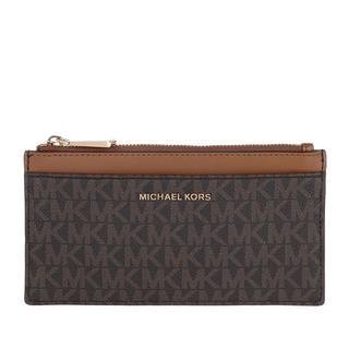 MICHAEL KORS - Portemonnaie - Large Slim Card Case Brown Acorn - in braun - für Damen