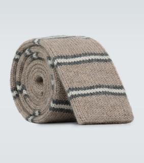 Brunello Cucinelli - Gestreifte Krawatte aus Kaschmir