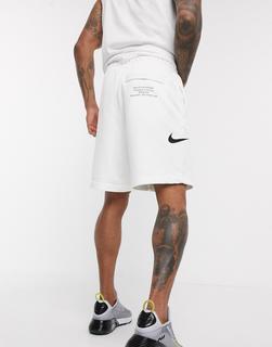 Nike - Weiße Shorts mit Swoosh-Logo