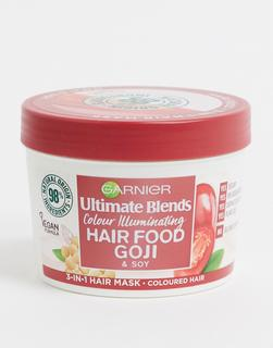 Garnier - Ultimate Blends Hair Food – 3-in-1-Haarmaske mit Goji-Beeren für gefärbtes Haar, 390 ml-Keine Farbe