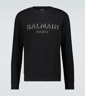 Balmain - Sweatshirt aus Baumwolle mit Logo