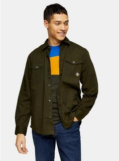 Barbour Beacon - Mens Barbour Beacon Green Twill Overshirt, Green