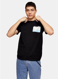 Levis - Mens Levi'S Black Graphic Front Back T-Shirt, Black