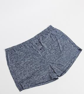 ASOS DESIGN - Plus – Jersey-Boxershorts in Marineblau meliert-Navy