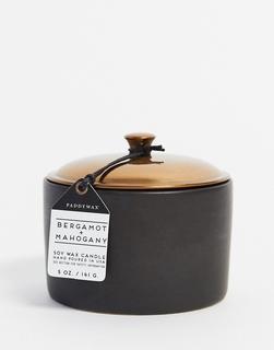 Paddywax - HYGGE – Kerze in schwarzem Keramikbehälter mit Bergamotten- und Mahagoni-Duft-Keine Farbe