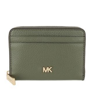MICHAEL KORS - Portemonnaie - Zip Around Coin Card Case Army Green - in grün - für Damen