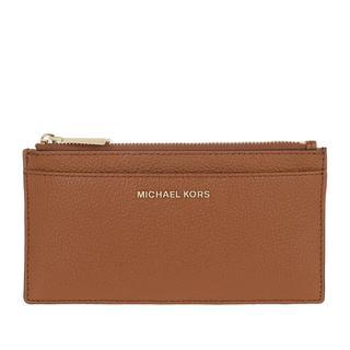 MICHAEL KORS - Portemonnaie - Large Slim Card Case Luggage - in braun - für Damen