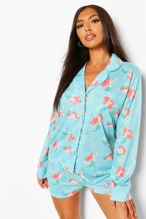 boohoo - Womens Disney Princess Ariel Pj Shirt & Short Set - Green - 10, Green
