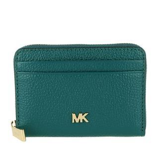MICHAEL KORS - Portemonnaie - Zip Around Coin Card Case Dark Cyan - in grün - für Damen