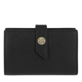 MICHAEL KORS - Portemonnaie - Medium Tab Wallet Black - in schwarz - für Damen