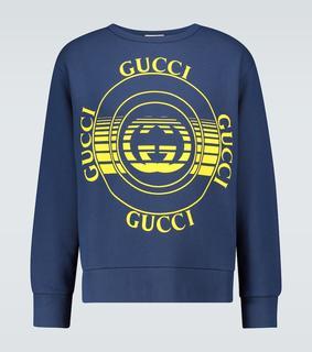 Gucci - Bedrucktes Sweatshirt aus Baumwolle