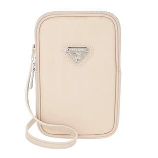 Maison Mollerus - Umhängetasche - Wildhorn Smartphone Wallet Pearl/Silver - in beige - für Damen
