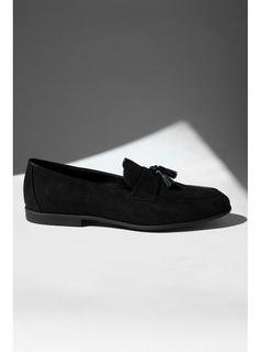 Topman - Mens Black Faux Suede Piper Loafers, Black