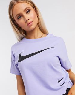 Nike - Blaues T-Shirt mit Swoosh-Logo