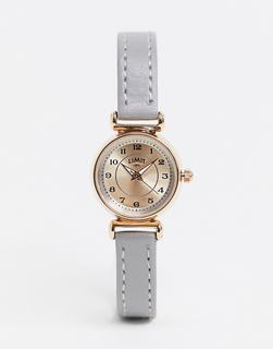 Limit - Graue Armbanduhr aus Kunstleder mit roségoldenem Gehäuse