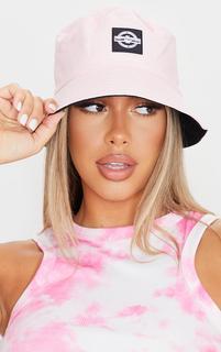 PrettyLittleThing - Pink Branded Bucket Hat, Pink