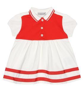 Moncler Enfant - Baby Kleid aus Baumwoll-Pique