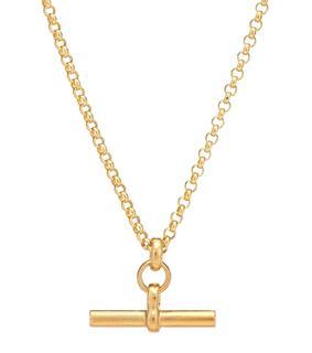 Tilly Sveaas - Vergoldete Halskette Small T-Bar