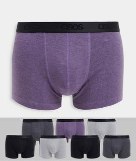 ASOS DESIGN - 7er-Packung Unterhosen mit Logobund – Jetzt sparen!-Mehrfarbig