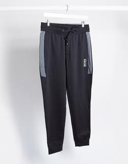 Boss - Bodywear – Jogginghose mit engen Bündchen und Logo in Schwarz, SUIT 8