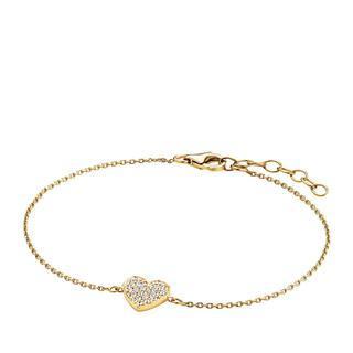 BELORO - Armband - Bracelet Heart Zirkonia  Gold-Plated - in gold - für Damen