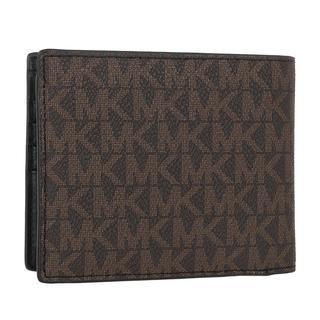MICHAEL KORS - Portemonnaie - Men Billfold Coin Pocket Wallet Brown Black - in braun - für Damen