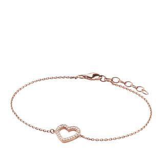 BELORO - Armband - Bracelet Heart Zirconia Rosé-Plated - in roségold - für Damen