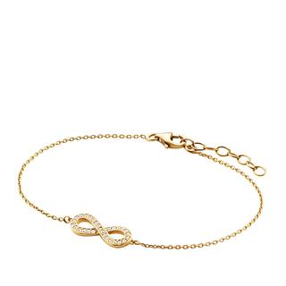 BELORO - Armband - Bracelet  Infinity Zirkonia  Gold-Plated - in gold - für Damen