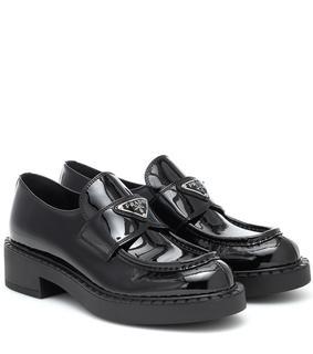 Prada - Loafers aus Lackleder