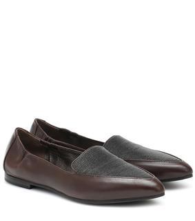 Brunello Cucinelli - Verzierte Loafers aus Leder