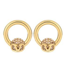 Valentino - Ohrringe VLOGO mit Kristallen