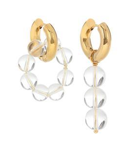 Timeless Pearly - Vergoldete Ohrringe mit Glasperlen