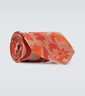 Dries Van Noten - Gemusterte Krawatte aus Seide