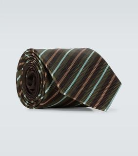 Dries Van Noten - Gestreifte Krawatte aus Seide