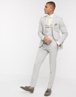 Harry Brown - Klassische Anzugshose in schlanker Passform-Grau