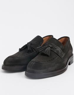 Selected Homme - Loafer aus Wildleder mit abnehmbaren Quasten in Braun