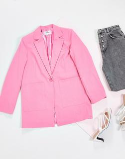NA-KD - Oversize-Blazer in Rosa