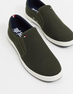 TOMMY HILFIGER - Sneaker zum Hineinschlüpfen in Military-Grün