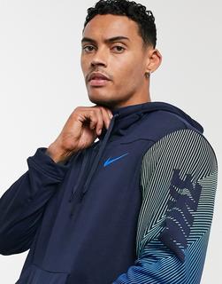 Nike Training - Dry – Kapuzenpullover in Marine-Navy