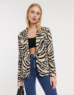 Vero Moda - Blazer mit Tigermuster-Mehrfarbig